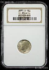 1952-S Roosevelt Silver Dime in NGC MS 67