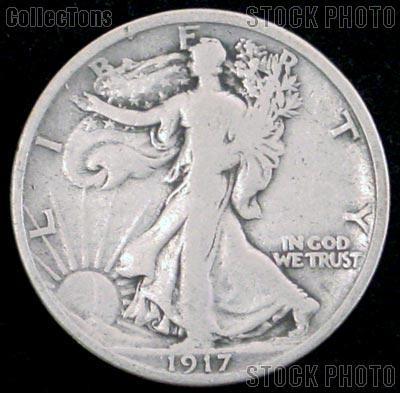 1917 Walking Liberty Silver Half Dollar Circulated Coin G 4 or Better