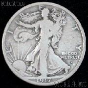 1917-S Walking Liberty Silver Half Dollar Obverse Mintmark Circulated Coin G 4 or Better