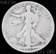 1920-D Walking Liberty Silver Half Dollar Circulated Coin G 4 or Better