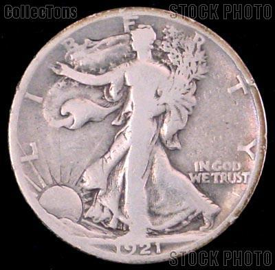 1921 Walking Liberty Silver Half Dollar KEY DATE Circulated Coin G 4 or Better
