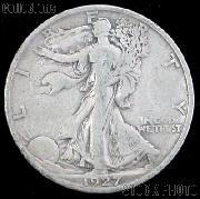 1927-S Walking Liberty Silver Half Dollar Circulated Coin G 4 or Better