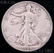 1934 Walking Liberty Silver Half Dollar Circulated Coin G 4 or Better