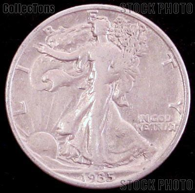1935-D Walking Liberty Silver Half Dollar Circulated Coin G 4 or Better