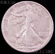 1935 Walking Liberty Silver Half Dollar Circulated Coin G 4 or Better
