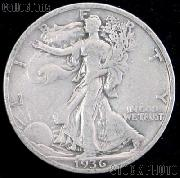 1936 Walking Liberty Silver Half Dollar Circulated Coin G 4 or Better