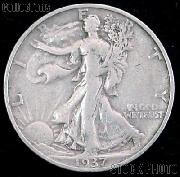1937 Walking Liberty Silver Half Dollar Circulated Coin G 4 or Better