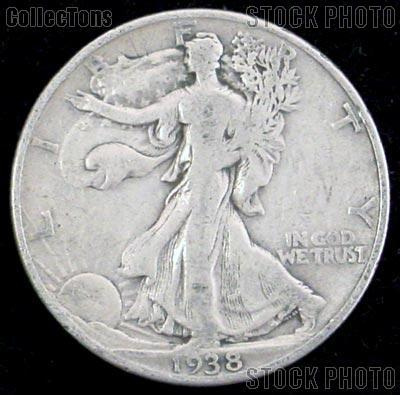 1938 Walking Liberty Silver Half Dollar Circulated Coin G 4 or Better