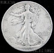 1938-D Walking Liberty Silver Half Dollar KEY DATE Circulated Coin G 4 or Better