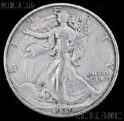 1939 Walking Liberty Silver Half Dollar Circulated Coin G 4 or Better