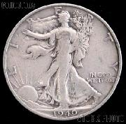 1940-S Walking Liberty Silver Half Dollar Circulated Coin G 4 or Better