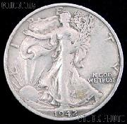 1942-D Walking Liberty Silver Half Dollar Circulated Coin G 4 or Better