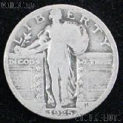 1925 Standing Liberty Silver Quarter Circulated Coin G 4 or Better