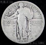 1926 Standing Liberty Silver Quarter Circulated Coin G 4 or Better