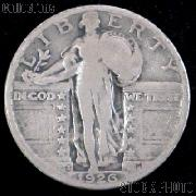 1926-S Standing Liberty Silver Quarter Circulated Coin G 4 or Better