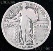 1927-S Standing Liberty Silver Quarter Circulated Coin G 4 or Better