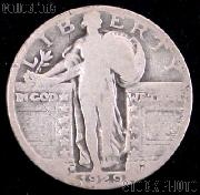 1929-D Standing Liberty Silver Quarter Circulated Coin G 4 or Better