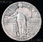 1929-S Standing Liberty Silver Quarter Circulated Coin G 4 or Better