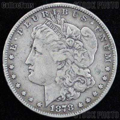 1878 7TF Morgan Silver Dollar Circulated Coin VG 8 or Better