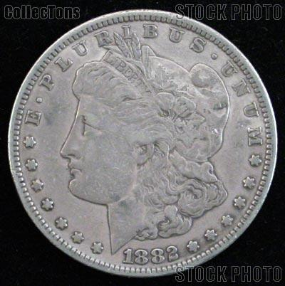 1882 S Morgan Silver Dollar Circulated Coin VG 8 or Better