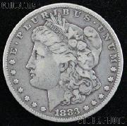 1883 Morgan Silver Dollar Circulated Coin VG 8 or Better