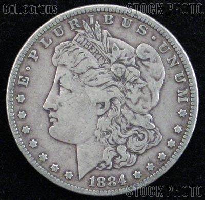 1884 O Morgan Silver Dollar Circulated Coin VG 8 or Better