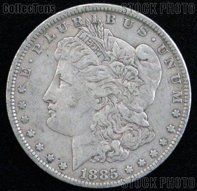 1885 O Morgan Silver Dollar Circulated Coin VG 8 or Better