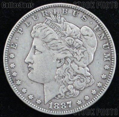 1887 O Morgan Silver Dollar Circulated Coin VG 8 or Better