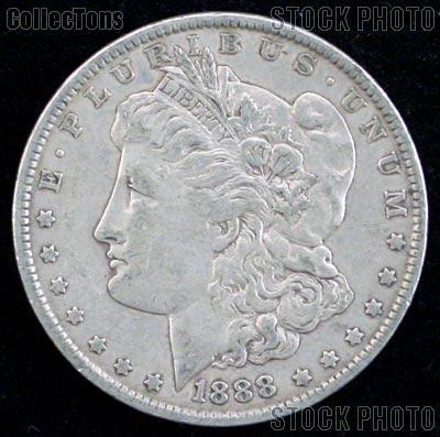 1888 O Morgan Silver Dollar Circulated Coin VG 8 or Better