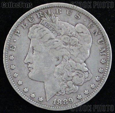 1889 Morgan Silver Dollar Circulated Coin VG 8 or Better