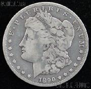 1890 Morgan Silver Dollar Circulated Coin VG 8 or Better