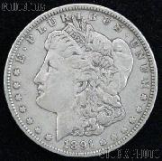 1891 S Morgan Silver Dollar Circulated Coin VG 8 or Better