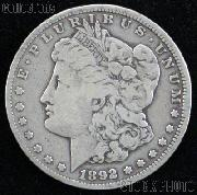 1892 S Morgan Silver Dollar Circulated Coin VG 8 or Better