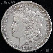 1893 Morgan Silver Dollar Circulated Coin VG 8 or Better