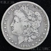 1895 S Morgan Silver Dollar Circulated Coin VG 8 or Better