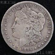 1896 Morgan Silver Dollar Circulated Coin VG 8 or Better