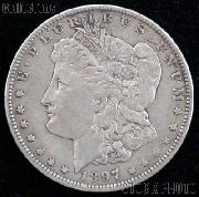 1897 Morgan Silver Dollar Circulated Coin VG 8 or Better