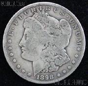 1898 Morgan Silver Dollar Circulated Coin VG 8 or Better