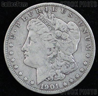 1901 Morgan Silver Dollar Circulated Coin VG 8 or Better