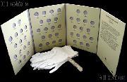 Roosevelt Dime Set 1946 -1964 Complete BU Silver Dime Set (48 Coins) w/ Littleton Folder LCF21