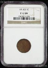 1914-D Key Date Lincoln Wheat Cent in NGC F 12 BN