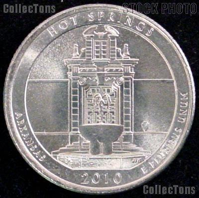 2010-P Arkansas Hot Springs National Park Quarter GEM BU America the Beautiful