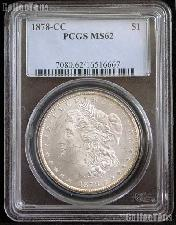 1878-CC Morgan Silver Dollar in PCGS MS 62