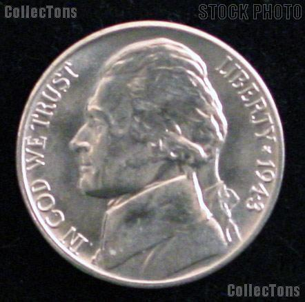 1943-D Jefferson Silver War Nickel Gem BU (Brilliant Uncirculated)