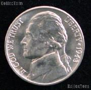 1943-D Jefferson Silver War Nickel Gem BU (Brilliant Uncirculated)