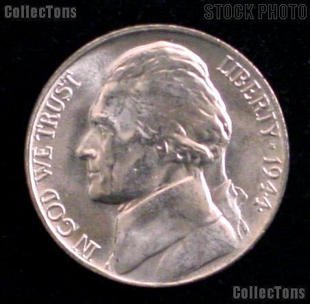 1944-D Jefferson Silver War Nickel Gem BU (Brilliant Uncirculated)