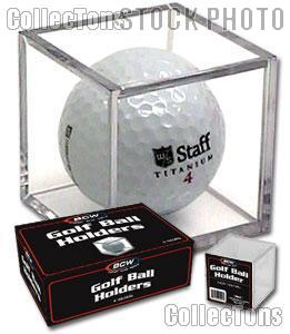 6 Golf Ball Display Cases by BCW Golf Ball Squares or Cubes