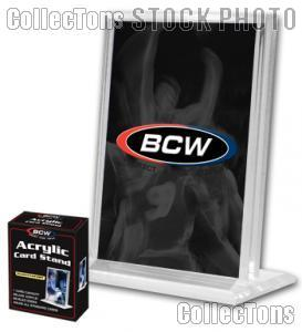10 Sports Card Frames by BCW 1/2 Inch Vertical Acrylic Card Holders