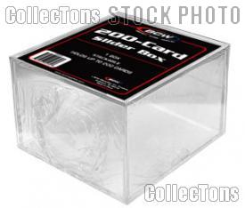 10 Sports Card Cases by BCW 2 Piece Slider Boxes 200 Card Count