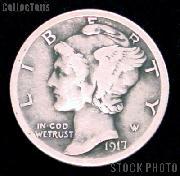 1917 Mercury Silver Dime 1917 Mercury Dime Circ Coin G 4 or Better